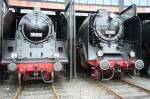 BR 03/36695/die-19-017-und-die-03-001-abgestellt Die 19-017 und die 03-001 abgestellt im Dresdener Eisenbahnmuseum am 11.07.09
