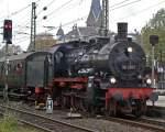BR 38/36467/38-2267-bei-der-einfahrt-in 38 2267 bei der Einfahrt in Solingen Hbf. , Gleis 8 am 24.10.09