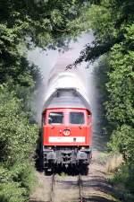 BR 232/35692/die-232-230-3-staubt-mit-einen Die 232 230-3 staubt mit einen Kalkzug zwischen Wülfrath und Ratingen durch denn Wald :-), am 18,08,09