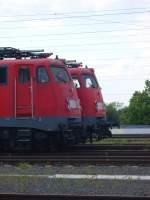 br-110-e10/70021/110-im-doppelpack-am-sonntag-den 110 im Doppelpack. Am Sonntag den 16.05.2010 standen BR 110 415-7 und BR 110 494-2 in Aachen Rothe-Erde nebeneinander abgestellt.