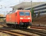 BR 145/186158/145-033-7-von-railion-rangiert-in 145 033-7 von Railion rangiert in Aachen-West bei Sonnenschein am 18.3.2012.