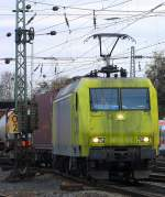 br-145-private-re-481/169398/die-145-cl-031-von-alpha Die 145 CL 031 von Alpha Trains kommt mit einem Containerzug aus Richtung Köln und fährt in Aachen-West ein bei Wolken. 26.11.2011