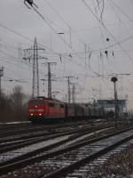 BR 151/53666/die-br-151-114-6-fuhr-am Die BR 151 114-6 fuhr am 11.02.2010 aus Gnf Gremberg aus.