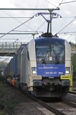 BR 182 Dispolok/39888/wlb-es-64-u2-064-durchfaehrt-am WLB ES 64 U2-064 durchfährt am 18.10.09 Ratingen