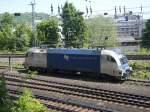 BR 182 Dispolok/71258/die-es-64-u2-024-stand-am Die ES 64 U2-024 stand am 22.05.2010 in Aachen West abgestellt.