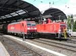 BR 185/48290/185-199-und-362-540-haben 185 199 und 362 540 haben in Aachen Hbf Parallelausfahrt richtung Aachen-Rothe-Erde.
