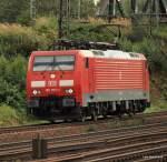 BR 189/41264/189-005-2-poltert-am-280809-lz 189 005-2 poltert am 28.08.09 Lz durch Hamburg-Veddel Richtung Norden.